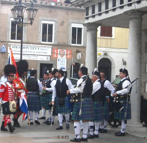 Pipe band outside the guardhouse
