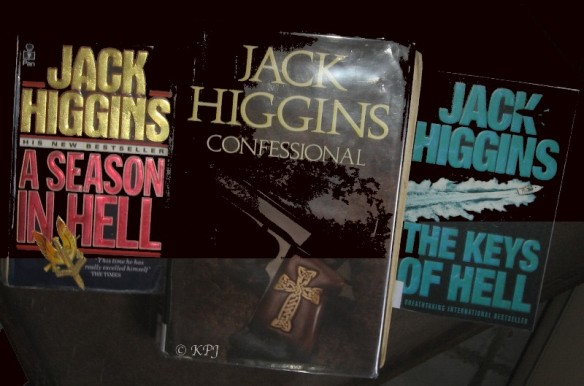 Jack Higgins novels. Plot - someone tries to kill someone else and usually succeeds.